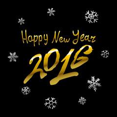 Vector - 2016 Happy New Year golden glowing