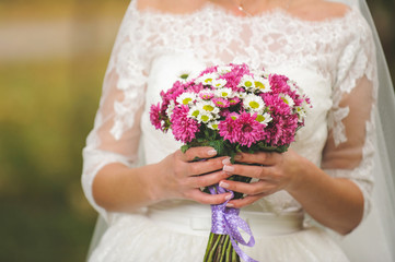 Bride with Autumn Bouquet