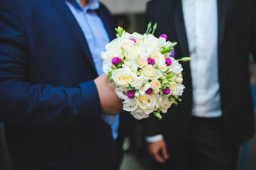 Rose and Clover Wedding Bouquet