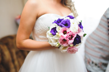 Bouquet with Violet Flowers