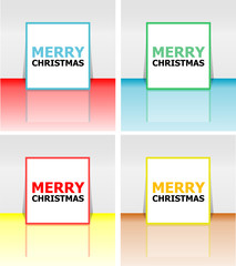 Holiday Vector Card, Merry Christmas, Happy New Year