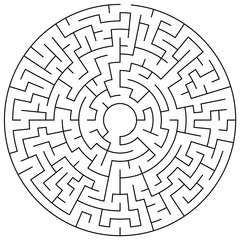 Maze puzzle illustration
