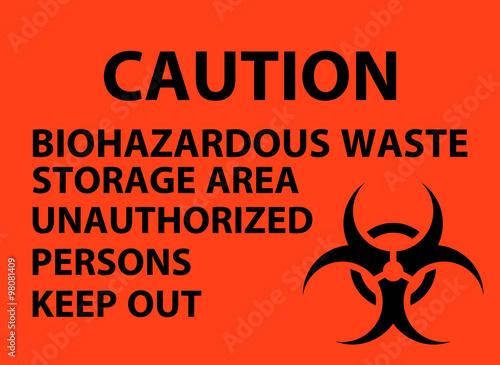 Biohazardous Waste Storage Area Poster Stock Image And Royalty Free