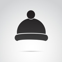 Winter, knit hat icon. Vector art.
