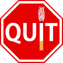 Quit Smoking stop sign