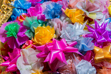 colorful of ribbon flower background