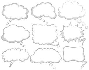 Different design of dream bubbles