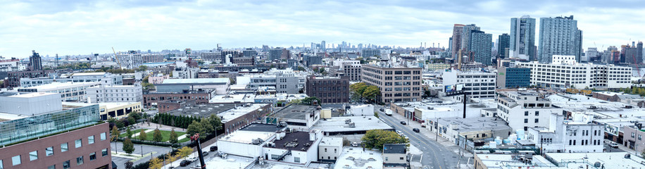 QUEENS, NEW YORK - OCTOBER 24, 2015: Panoramic view of Queens bu