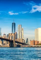 Beautiful Lower Manhattan skyline. Buildings of New York