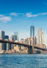 Wall Mural - Brooklyn Bridge in New York on a sunny day