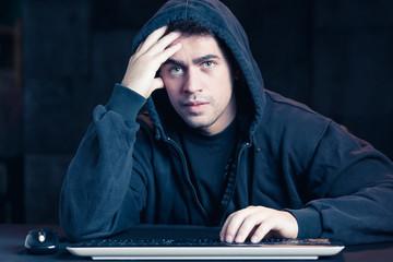 Man surf on internet