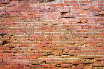 Red brick wall texture pattern background