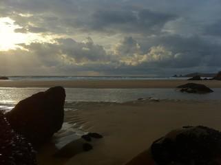 Crépuscule sur l'océan