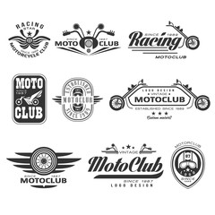 Vintage Motorcycle Labels, Badges and Design Elements