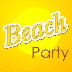 Icono plano Beach Party en fondo degradado #1