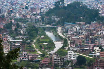 Obraz Przedmieścia Katmandu, panorama - fototapety do salonu