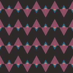 Seamless abstract pattern with triangles