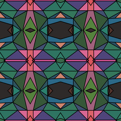 Seamless bright kaleidoscopic pattern