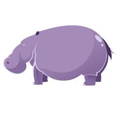 Cartoon fat Hippopotamus