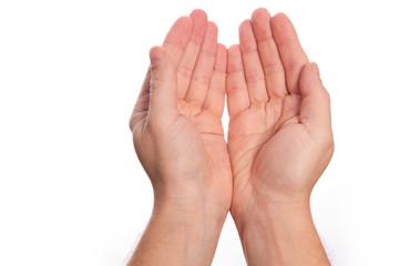 zwei offene Hände neben einander