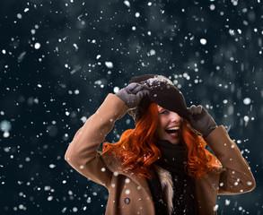 women in snow