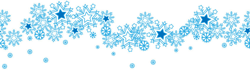 Seamless Pattern Blue Snowflakes