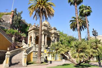 Parque en el centro de Santiago de Chile.