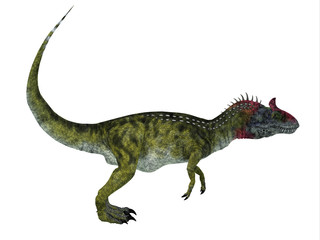 Cryolophosaurus Side Profile - Cryolophosaurus was a theropod dinosaur that lived in Antarctica during the Jurassic Period.