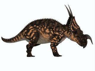 Einiosaurus Side Profile - Einiosaurus was a herbivorous ceratopsian dinosaur that lived in the Cretaceous Age of Montana, North America.