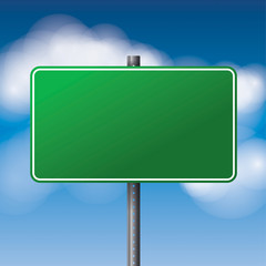 Blank Green Road Sign Illustration