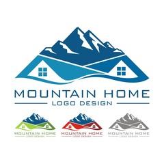Mountain Home Design Logo Vector