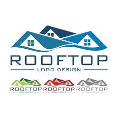 Rooftop Logo Design Vector
