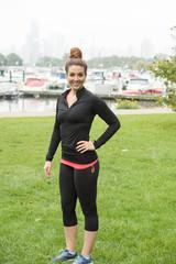 charming fitness female model