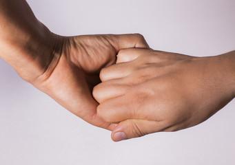 agarre de manos superficial