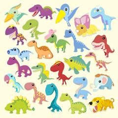cartoon dinosaur collections set