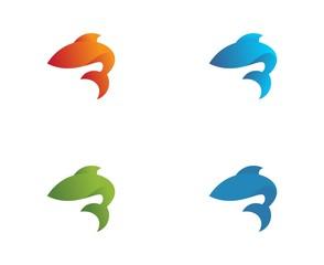 fish abstract vector logo