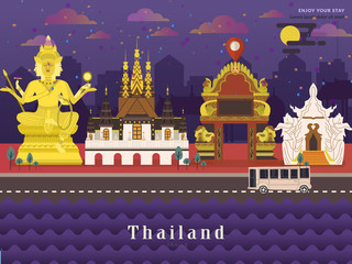 Thailand travel concept poster