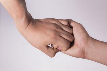 agarre de manos