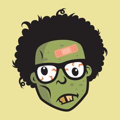 Geek Funny Zombie Head