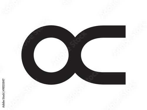 Oc Letter Identity Monogram Logo Stock Image And Royalty Free
