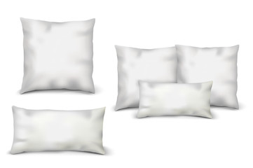 Blank White Pillows Set