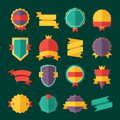 Modern flat design badges collection