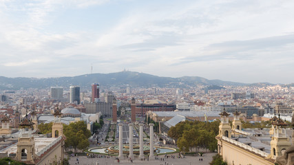 View of Barcelona from the top