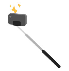 Selfie stick vector icon illustration