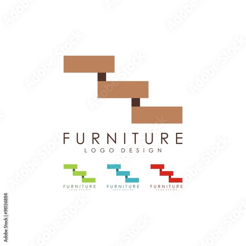 Furniture Logo Stairs Logo Design Logo Vector Stock