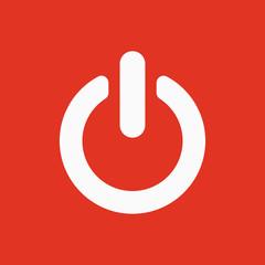 The power icon. Power symbol. Flat