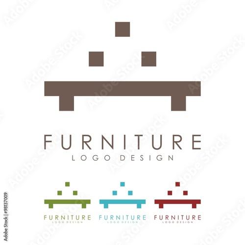 quotfurniture logo table logo design logo vectorquot stock