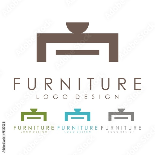 furniture logo table logo design logo vector stock