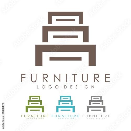 Furniture logo lockers logo design logo vector stock for Chair logo design