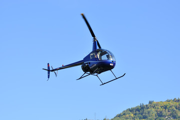 blue light utility helicopter